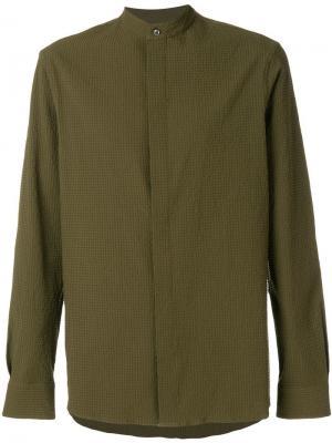 Рубашка с круглым вырезом Qasimi. Цвет: зеленый