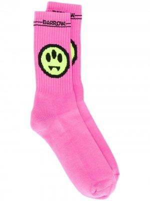 Жаккардовые носки BARROW. Цвет: розовый