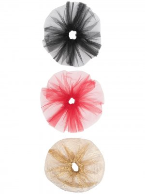 Набор резинок для волос Atu Body Couture. Цвет: красный