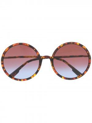 Солнцезащитные очки с круглыми градиентными стеклами Dior Eyewear. Цвет: желтый