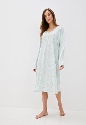 Сорочка ночная Marks & Spencer. Цвет: зеленый