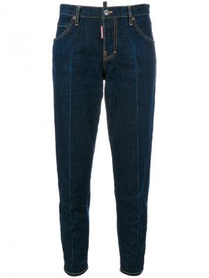 Зауженные джинсы Dsquared2. Цвет: синий
