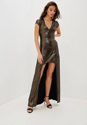 Платье Patrizia Pepe. Цвет: золотой