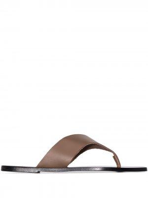 Сандалии Merine ATP Atelier. Цвет: коричневый