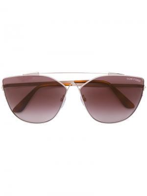 Солнцезащитные очки в оправе кошачий глаз Tom Ford Eyewear. Цвет: коричневый
