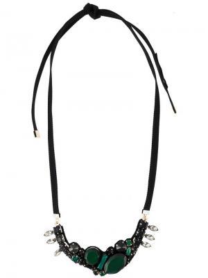 Декорированное ожерелье Marni. Цвет: зеленый