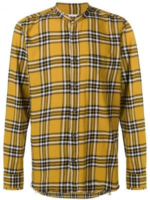 Checked mandarin collar shirt Mauro Grifoni. Цвет: желтый