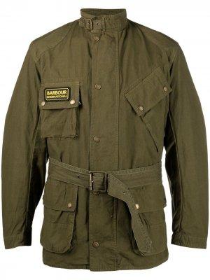 Куртка International с поясом Barbour. Цвет: зеленый