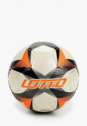 Мяч футбольный Lotto. Цвет: бежевый