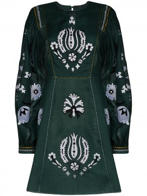 Платье Jasmine с вышивкой Vita Kin. Цвет: зеленый