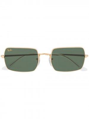 Солнцезащитные очки в прямоугольной оправе Ray-Ban. Цвет: золотистый
