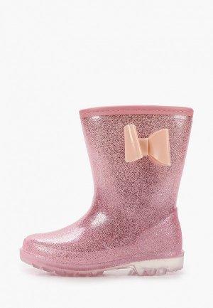 Резиновые сапоги Kenkä. Цвет: розовый