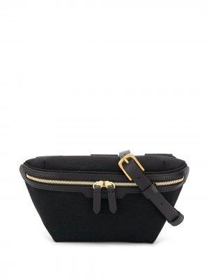 Парусиновая поясная сумка MS Mismo. Цвет: черный
