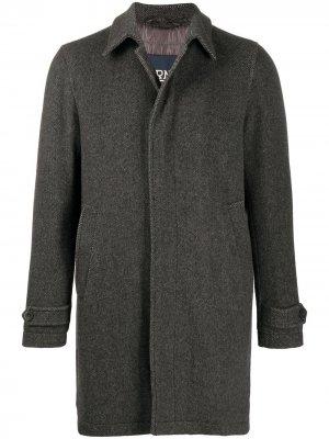 Двубортное пальто с подкладкой Herno. Цвет: серый