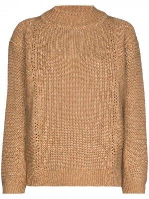 Джемпер крупной вязки с высоким воротником See by Chloé. Цвет: коричневый