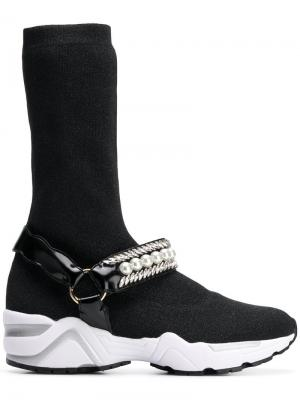 Jewelled sock sneakers Suecomma Bonnie. Цвет: черный