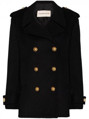 Двубортное пальто Alexandre Vauthier. Цвет: черный