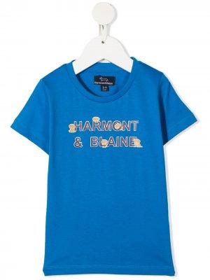 Футболка с графичным принтом и круглым вырезом Harmont & Blaine Junior. Цвет: синий