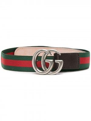 Ремень с логотипом GG Gucci Kids. Цвет: зеленый