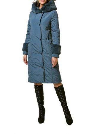 Пальто DizzyWay. Цвет: серо-синий