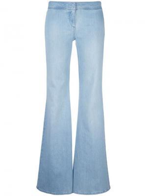 Расклешенные джинсы Balmain. Цвет: синий