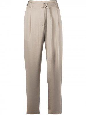 Укороченные брюки с завышенной талией LAPOINTE. Цвет: серый