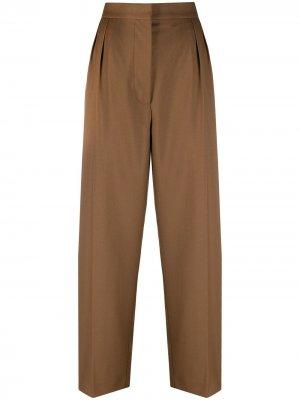 Широкие брюки строгого кроя Marni. Цвет: коричневый
