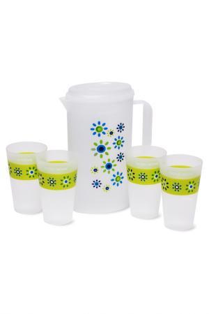 Набор GRUS, кувшин и 4 чашки DOSH I HOME. Цвет: прозрачный