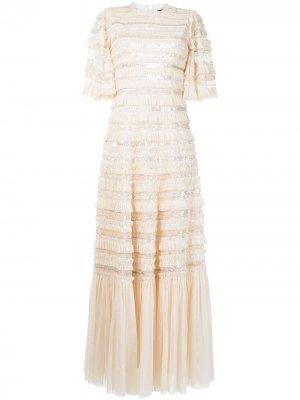Вечернее платье Nancy Needle & Thread. Цвет: нейтральные цвета