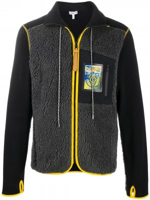 Флисовая куртка с контрастной окантовкой LOEWE. Цвет: черный
