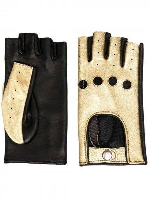 Перчатки-митенки Manokhi. Цвет: золотистый