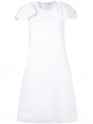 Платье с бантами Delpozo. Цвет: белый