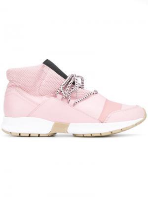 Кроссовки на массивной каблуке Trussardi Jeans. Цвет: розовый