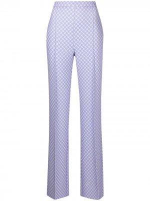 Расклешенные брюки с принтом Elisabetta Franchi. Цвет: фиолетовый