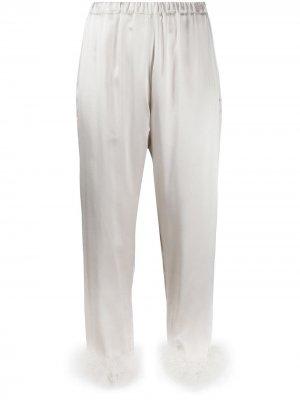 Пижамные брюки Kitty Gilda & Pearl. Цвет: серебристый