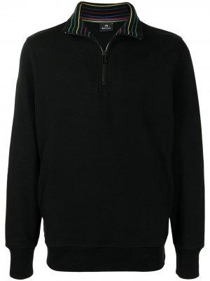 Пуловер с высоким воротником PS Paul Smith. Цвет: черный