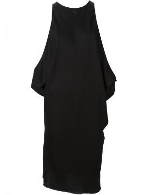 Платье с открытыми плечами Ann Demeulemeester. Цвет: чёрный