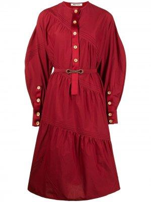 Платье хенли с лентами Ports 1961. Цвет: красный