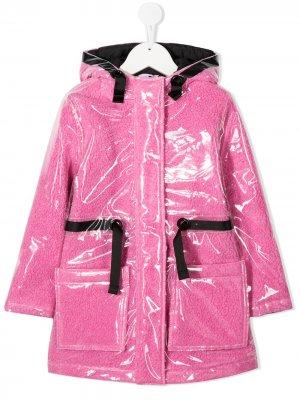 Пальто со слоем из ПВХ The Marc Jacobs Kids. Цвет: розовый