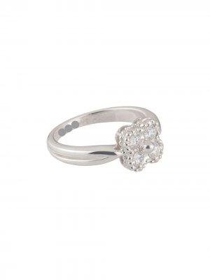 Золотое кольцо Alhambra с бриллиантами Van Cleef & Arpels. Цвет: diamond