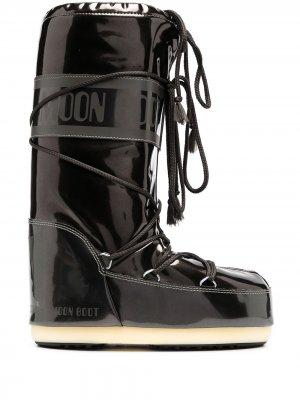 Сапоги на шнуровке Moon Boot. Цвет: черный