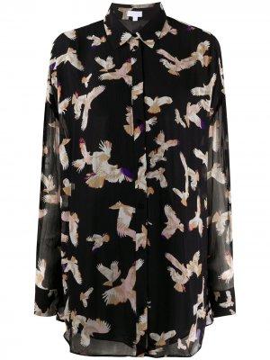 Рубашка на пуговицах с принтом Lala Berlin. Цвет: черный
