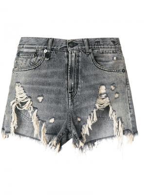 Ripped denim shorts R13. Цвет: серый