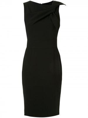 Приталенное коктейльное платье Paule Ka. Цвет: черный