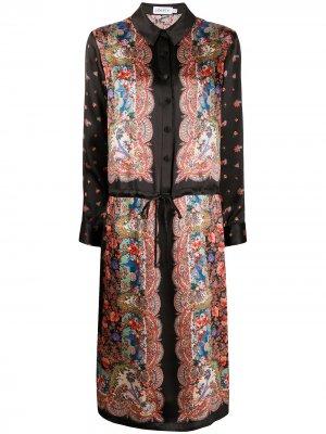 Платье Dina Mia с кулиской Liberty London. Цвет: черный