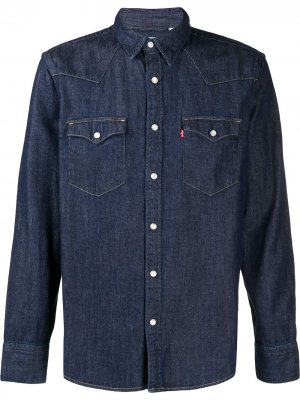 Levis джинсовая рубашка Barstow Western Levi's. Цвет: синий