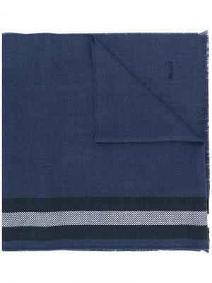 Трикотажный шарф с полосками Bally. Цвет: синий