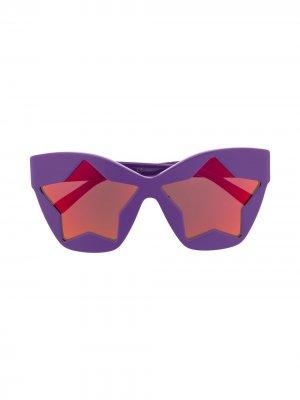 Солнцезащитные очки в оправе кошачий глаз Stella McCartney Eyewear. Цвет: фиолетовый