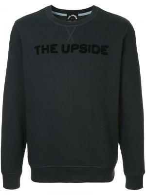 Свитшот с логотипом The Upside. Цвет: синий