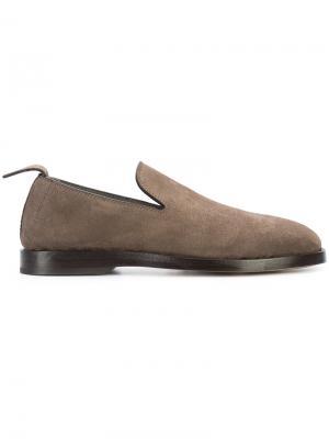 Лоферы с закругленным носком Measponte. Цвет: коричневый